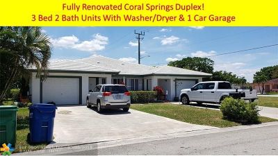 Coral Springs Multi Family Home For Sale: 10900 NW 41st Dr