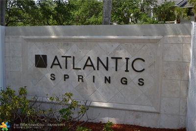 Coral Springs Condo/Townhouse For Sale: 11263 W Atlantic Blvd #305