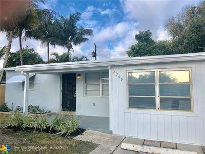 Pompano Beach Single Family Home For Sale: 2949 NE 12