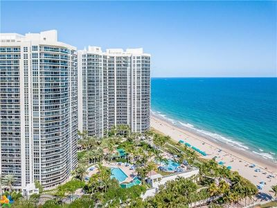 Condo/Townhouse For Sale: 3100 N Ocean Bl #1010