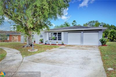 Plantation Single Family Home For Sale: 481 NW 45th Ter