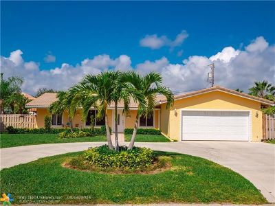 Pompano Beach Single Family Home For Sale: 1651 NE 26th Ave