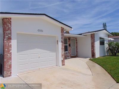 North Lauderdale Single Family Home Backup Contract-Call LA: 6551 SW 9th Pl