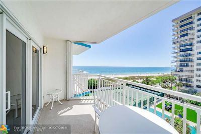 Lauderdale By The Sea Condo/Townhouse For Sale: 1770 S Ocean Blvd #606
