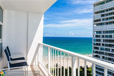 Lauderdale By The Sea Condo/Townhouse For Sale: 1620 S Ocean Blvd #PH N