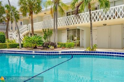 Lauderdale By The Sea Condo/Townhouse For Sale: 4630 Poinciana St #1C