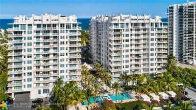 Condo/Townhouse For Sale: 2821 N Ocean Blvd #901S