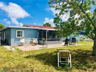 Pompano Beach Single Family Home For Sale: 3821 NW 3rd Ter