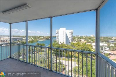Pompano Beach Condo/Townhouse For Sale: 1505 N Riverside Dr #608