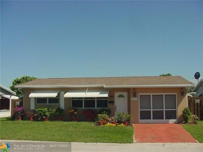 Margate Single Family Home For Sale: 6685 NW 12th St