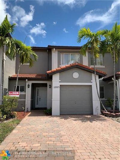 Miramar Condo/Townhouse For Sale: 12973 SW 28th Ct #12973