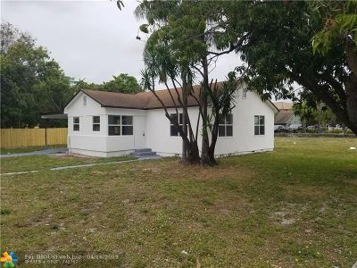 Pompano Beach FL Single Family Home For Sale: $219,900