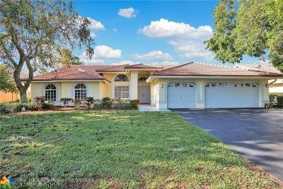 Coral Springs Single Family Home For Sale: 10336 NW 51st Street