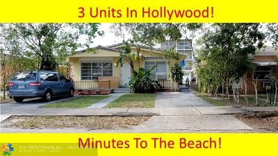 Hollywood Multi Family Home For Sale: 1730 Washington St