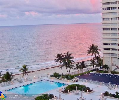 Fort Lauderdale Condo/Townhouse For Sale: 4300 N Ocean Blvd #9-G