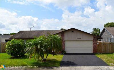 Sunrise FL Single Family Home For Sale: $349,000