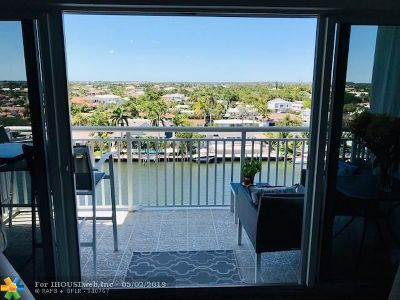 Pompano Beach Condo/Townhouse For Sale: 2611 N Riverside Dr #906