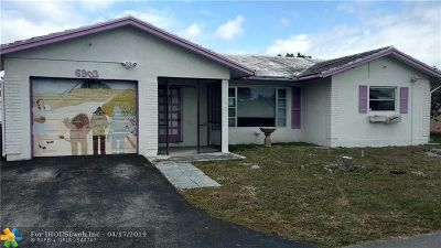 Tamarac Single Family Home For Sale: 6903 NW 76th Ct