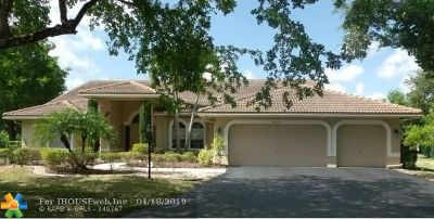 Coral Springs Single Family Home For Sale: 10732 NW 55th Pl