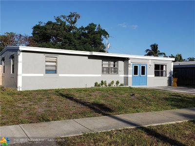Pompano Beach FL Single Family Home For Sale: $256,000