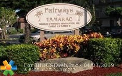 Tamarac Condo/Townhouse For Sale: 8205 NW 61st St #B104