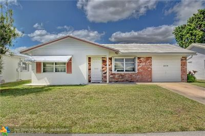 Tamarac Single Family Home For Sale: 8209 NW 59th Pl