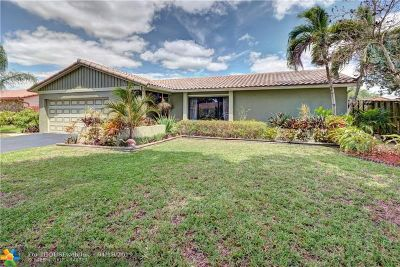 Coral Springs Single Family Home For Sale: 9675 NW 28th St