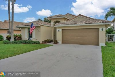 Coconut Creek Single Family Home Backup Contract-Call LA: 6430 NW 41st Ter