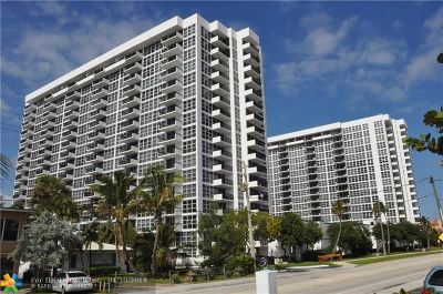 Pompano Beach Condo/Townhouse For Sale: 531 N Ocean Blvd #1609