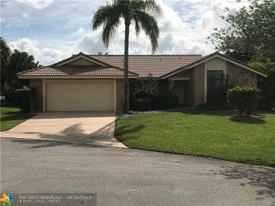 Coral Springs Single Family Home For Sale: 4245 NW 73rd Way