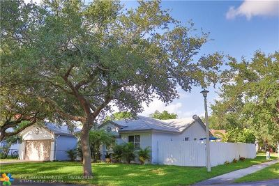Coconut Creek Single Family Home For Sale: 1412 NW 47th Ter