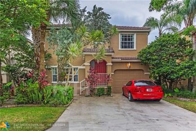 Coral Springs Single Family Home For Sale: 11736 SW 1st St