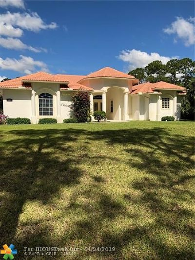 Jupiter Single Family Home For Sale: 15633 Jupiter Farms Rd