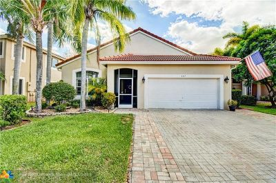 Coral Springs Single Family Home For Sale: 5317 NW 121st Ave