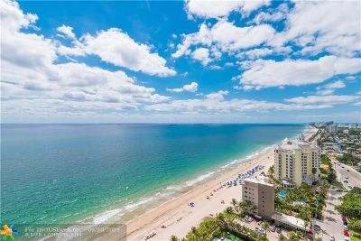 Fort Lauderdale Condo/Townhouse For Sale: 2110 N Ocean Blvd #24A
