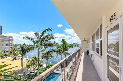 Fort Lauderdale Condo/Townhouse For Sale: 101 N Birch Rd #403