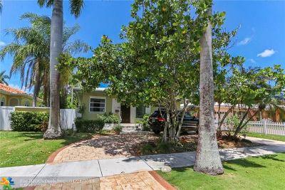 Hollywood Single Family Home For Sale: 923 Van Buren St