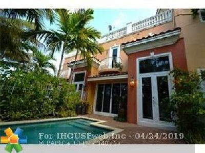 Fort Lauderdale Condo/Townhouse For Sale: 1362 Bayview Dr #1362