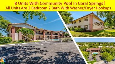 Coral Springs Multi Family Home For Sale: 10825 Royal Palm Blvd