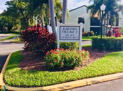 Coconut Creek Condo/Townhouse For Sale: 3411 Cocoplum Cir #3406