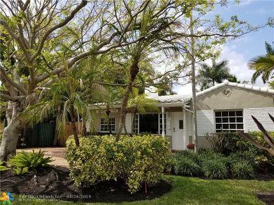 Fort Lauderdale Single Family Home For Sale: 1629 NE 6th St