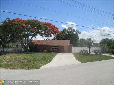 Pompano Beach Single Family Home For Sale: 2981 NE 13th Ave
