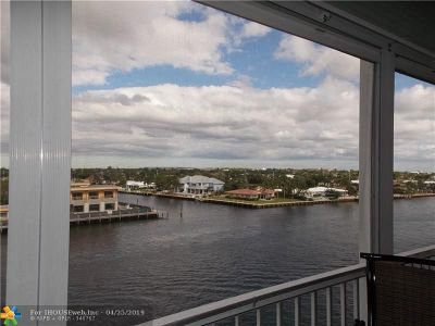 Pompano Beach Condo/Townhouse For Sale: 303 N Riverside Dr #604