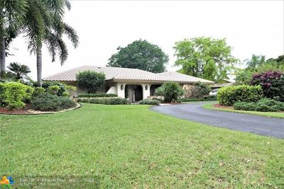 Coral Springs Single Family Home For Sale: 11100 NW 33rd St