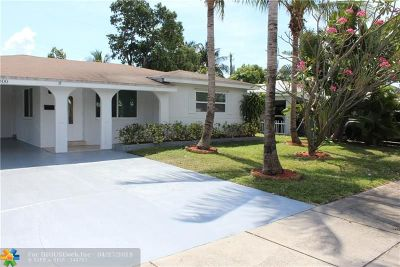Oakland Park Single Family Home For Sale: 4800 NE 6th Ave