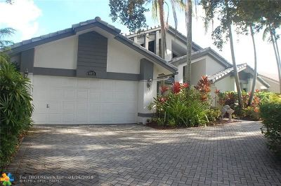 Coral Springs Single Family Home For Sale: 4877 NW 96th Dr