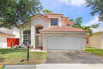 Margate Single Family Home For Sale: 6927 NW 26th St