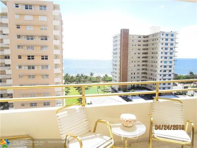 Condo/Townhouse Sold: 1630 N Ocean Blvd #814