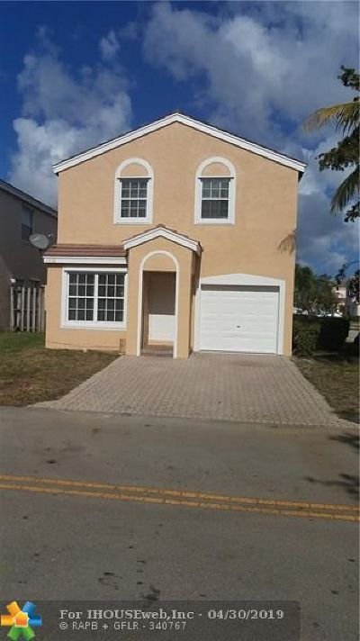 Margate Single Family Home Backup Contract-Call LA: 3306 Chickee Ln