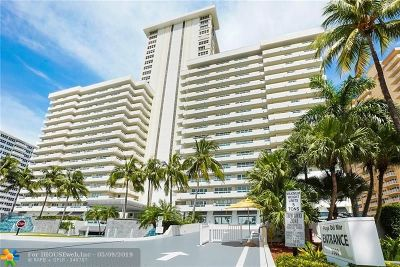 Broward County Condo/Townhouse For Sale: 3900 Galt Ocean Dr #708
